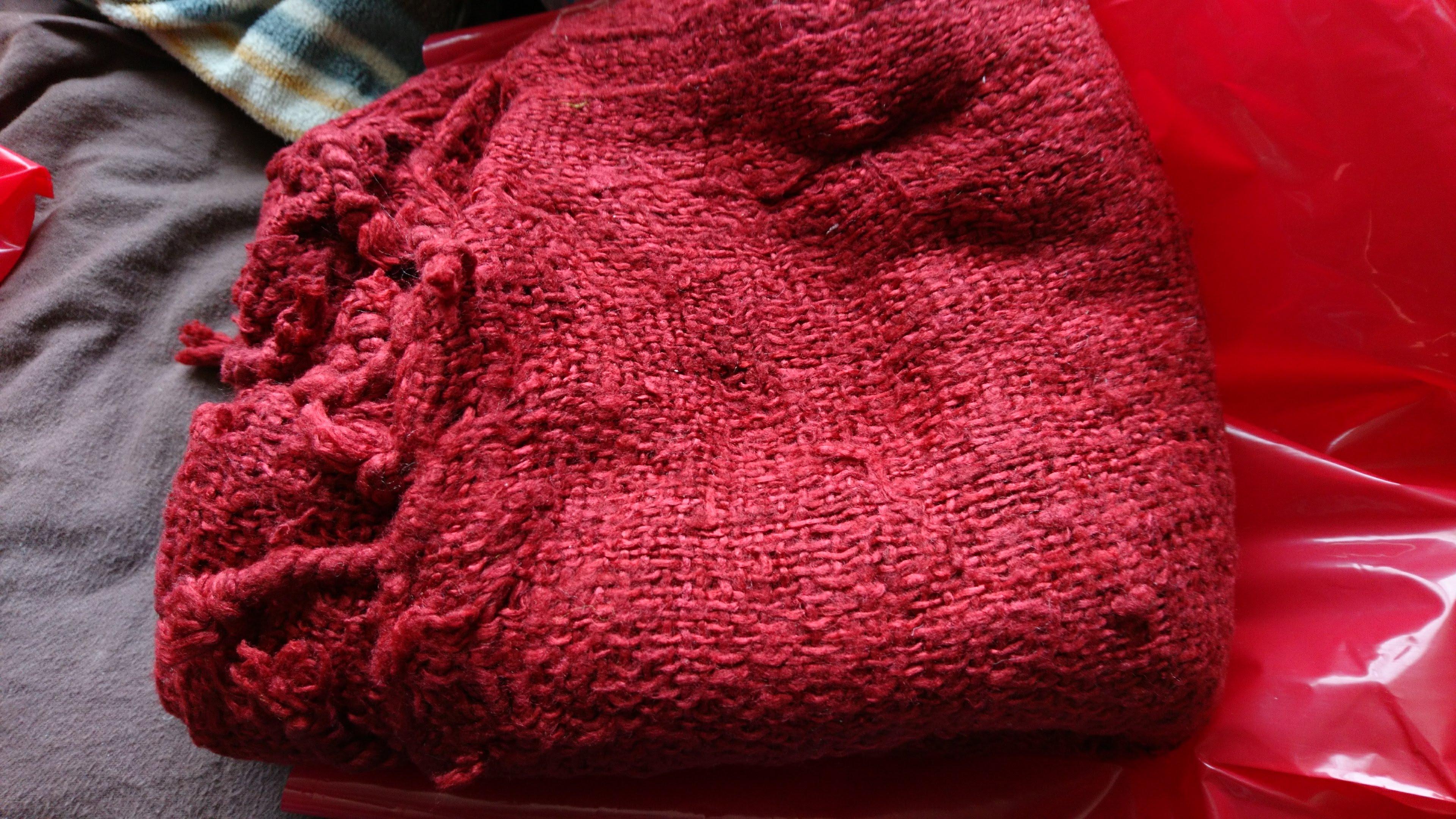 [ニャサ村] 手紡ぎ、手織り、極太スパンシルクストール