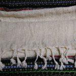 [ニャサ村] 極太シルク手紡ぎ糸の手織りストール (無染色)