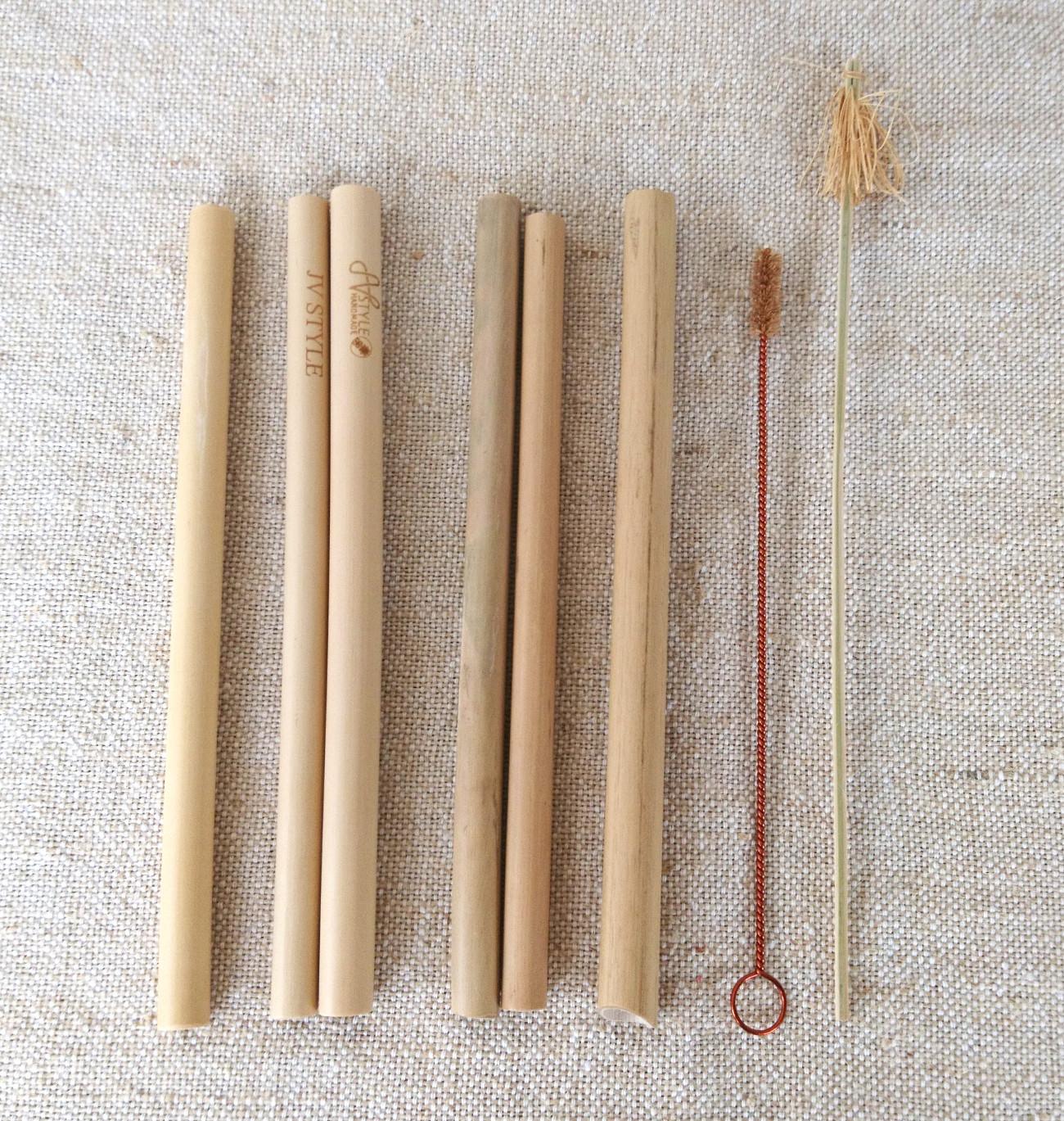 天然素材(再利用可能/生分解性)バンブー(竹)ストローお試しセット
