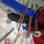 ターオイ族ビーズ織り