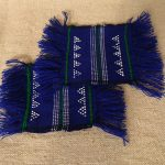 ターオイ族ビーズ織り手織り生地コースター