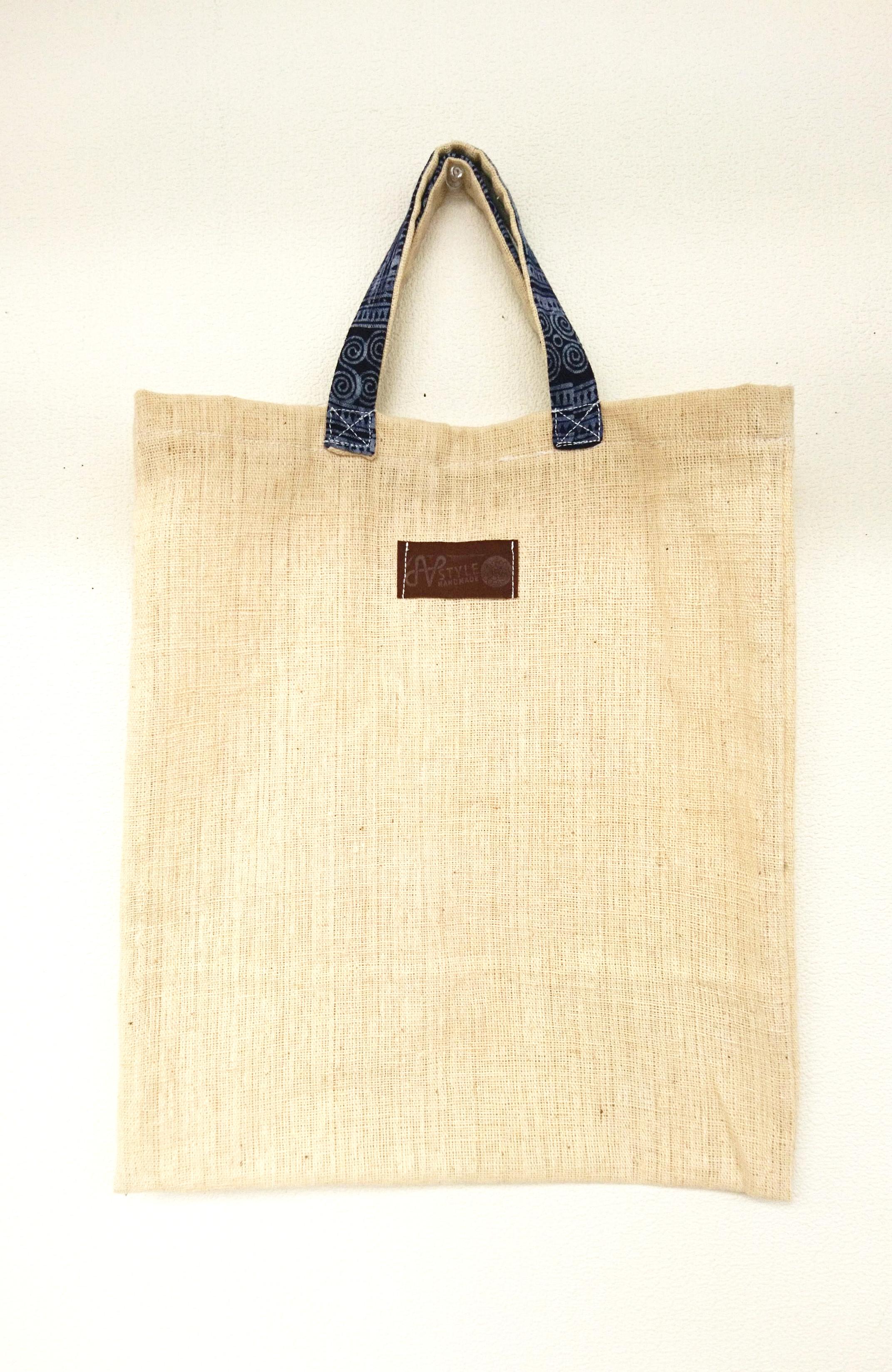 モン族手織りヘンプ生地エコバッグ