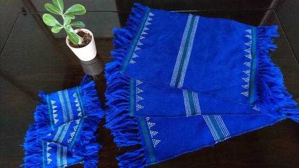 ターオイ族ビーズ織りランチョンマット・コースター
