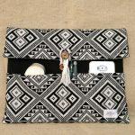 タイ族伝統浮き織り生地<ブリーフケース>A4ワイドサイズ横型(厚手)(ポケット)