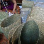 アンペラ編み