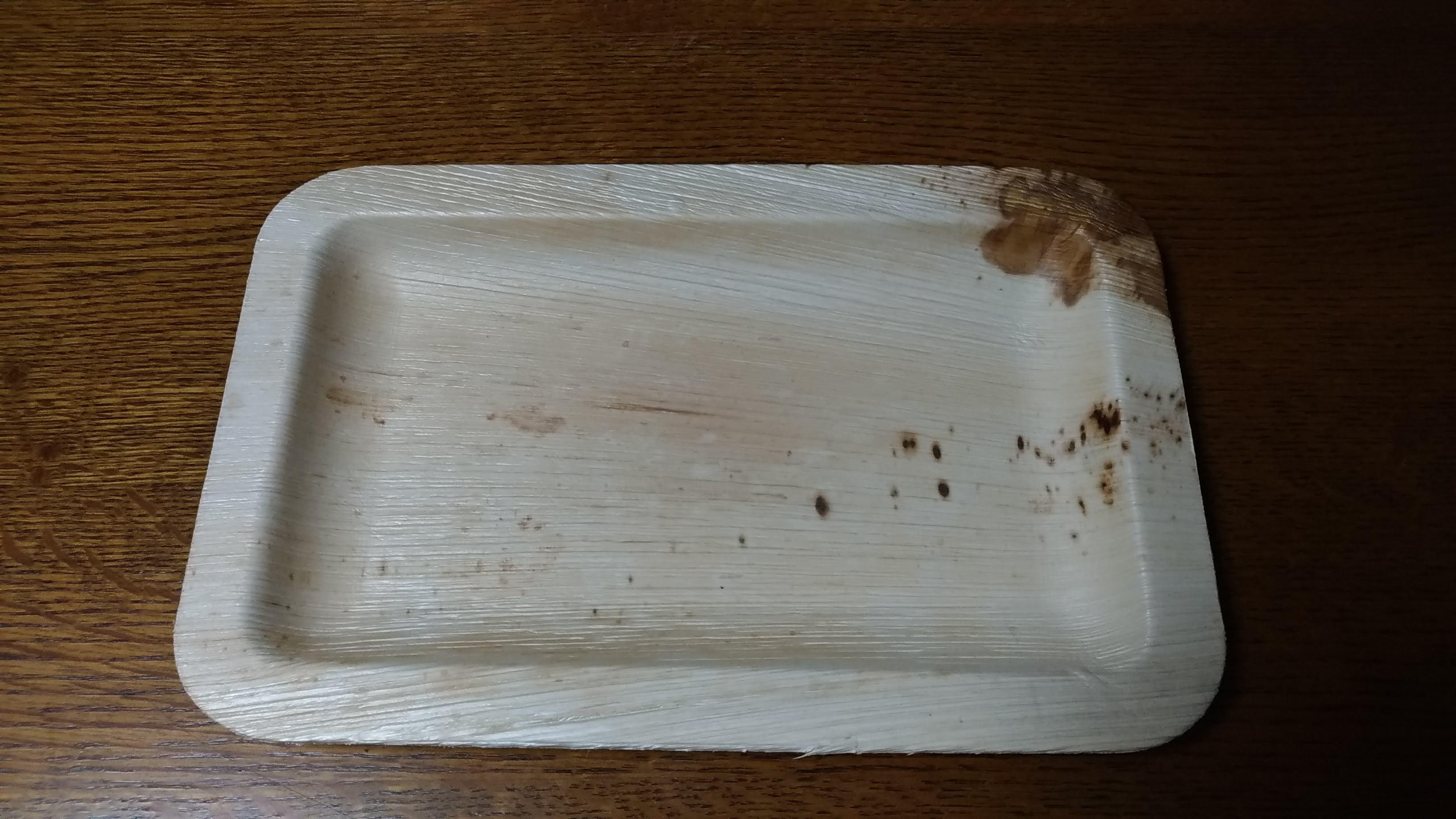 アレカヤシリーフプレート(長方形プレート 28x18 x H1.8 cm)5枚